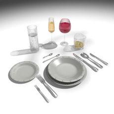Plate set 1 3D Model