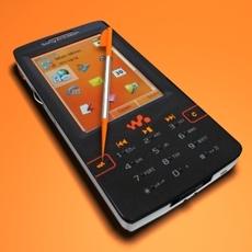 Sonyericsson W950i 3D Model