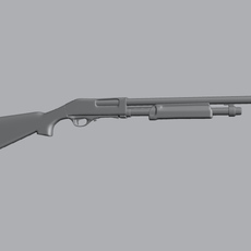 Shot Gun 3D Model