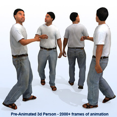 8 Pre-Animated 3d People Models - Casual 3D Model