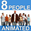 23 50 06 401 8 animated people 3d models master 4
