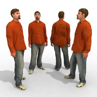 16 3d People Models - Casual 3D Model