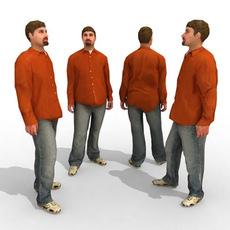 16 3d People Models - Casual 3D Model