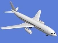 A300 Airbus 3D Model