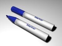 Blue Marker 3D Model