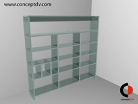Free Glass Display Unit 3D Model