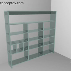 Glass Display Unit 3D Model