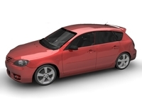 2005 Mazda 3 Axela Hatch 3D Model