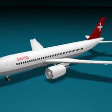 Swiss Airplane 3D Model