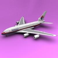 A-380 Malaysia 3D Model