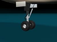 American Airlinen Plane 3D Model