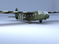 Free WACO CG 4A Glider 3D Model