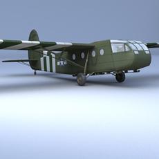 WACO CG 4A Glider 3D Model