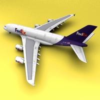 A-380 Fedex 3D Model