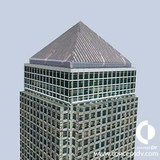 Canary Wharf Building 3D Model