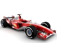Ferrari F2003 GA 3D Model