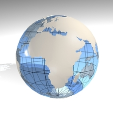 Blue Earth Globe2 3D Model
