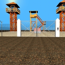 4 Guard Tower 3D Model