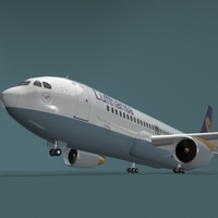A320 Lufthansa 3D Model