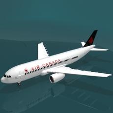 A320 Air Canada  3D Model