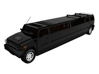 Hummer H2 Limo 3D Model