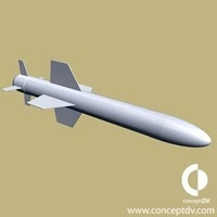 Generic cruise Missile 3D Model