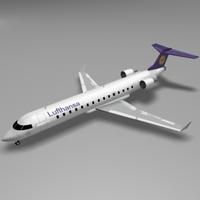 CRJ 700 Lufthansa 3D Model