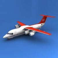 Bae-146-100 3D Model