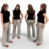 16 3d People Models - Casual 2 3D Model