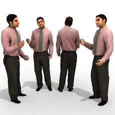 16 3d People Models - Business 3D Model