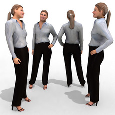 3d Model - Business Female #6a 3D Model