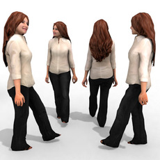 3d Model - Business Female #8 3D Model