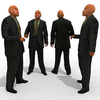 3d Model - Business Male #5a 3D Model