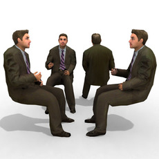 3d Model - Business Male #6a 3D Model