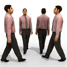 3d Model - Business Male #8a 3D Model