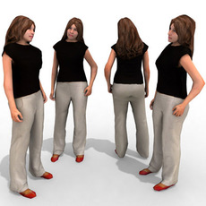 3d Model - Casual Female #10a 3D Model