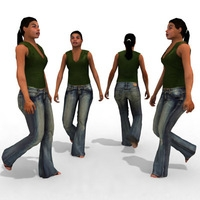- Casual Female #12 3D Model