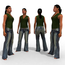 3d Model - Casual Female #12a 3D Model