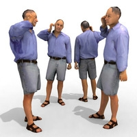3d Model - Casual Male #12a 3D Model