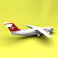 BAe-146 Swiss 3D Model