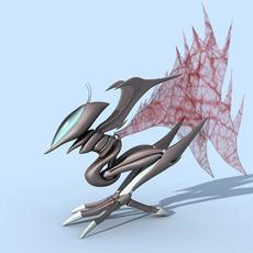 fantastic creture grasshopper 3D Model