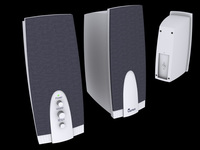 Speakers Genius G-08 3D Model