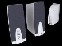 Speakers Genius G-08 3D Model