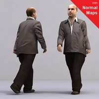 aXYZ design - AMan0002-Wa / 3D Human for superior visualizations 3D Model