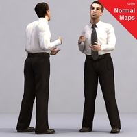 aXYZ design - AMan0003-St / 3D Human for superior visualizations 3D Model