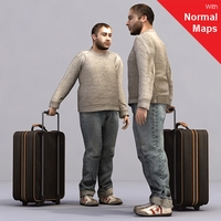 aXYZ design - AMan0004-St / 3D Human for superior visualizations 3D Model