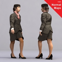 aXYZ design - AWom0001-Wa / 3D Human for superior visualizations 3D Model
