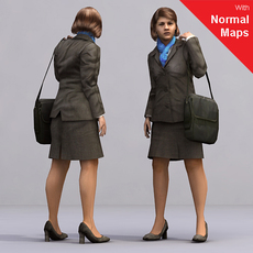 aXYZ design - AWom0003-St / 3D Human for superior visualizations 3D Model
