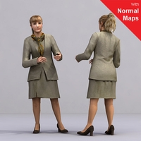 aXYZ design - AWom0002-St / 3D Human for superior visualizations 3D Model