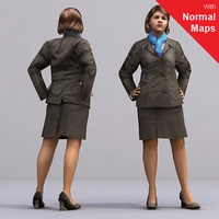 aXYZ design - AWom0003-St2 / 3D Human for superior visualizations 3D Model